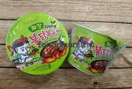 """Лапша в стакане с соусом чаджан (острая) """"Hot chicken flavor ramen jjajang"""" (Корея)"""