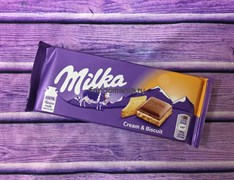 "Шоколад ""Milka-cream and biscuit"""
