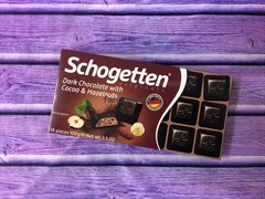 Шоколад Schogetten Dark Chocolate with Cocao and Hazelnuts