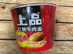 Лапша в стакане со вкусом тушеной говядины и яйцом внутри (Китай)