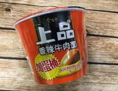 Лапша в стакане со вкусом пряной говядины и яйцом внутри (Китай)