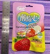 Жевательные конфеты с кислинкой со вкусом клубники (Китай)