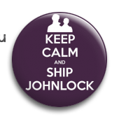 "Значок ""Keep calm and ship..."" (Шерлок)"