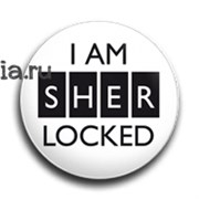 "Значок ""I am sherlocked"" (Шерлок)"