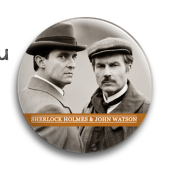 "Значок ""Шерлок Холмс и Доктор Уотсон"""