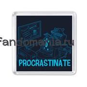 "Магнит ""Procrastinate"" (Доктор Кто)"