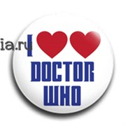 "Значок ""Love Doctor"" (Доктор Кто)"
