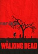 """Постер """"Walking Dead"""" красный"""