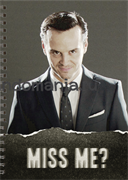 """Блокнот """"Miss me?"""" (Шерлок)"""