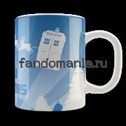 "Кружка ""Doctor Who. Merry Christmas"" (Доктор кто)"