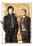 """Обложка на паспорт """"Шерлок и Джон"""""""