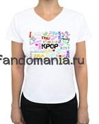 "Футболка ""I love K-Pop"""