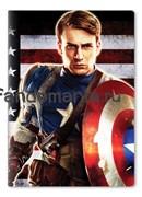 """Обложка на паспорт виниловая """"Капитан Америка"""""""