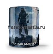 """Кружка """"Зимний солдат"""" (Капитан Америка)"""