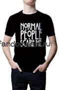 """Футболка """"Normal people scare me"""" (Американская история ужасов)"""