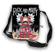 """Сумка с клапаном """"Rick and Morty"""" (Рик и Морти)"""