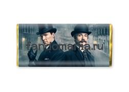 """Шоколадная плитка """"Шерлок Холмс и Джон Ватсон"""" (Шерлок BBC)"""