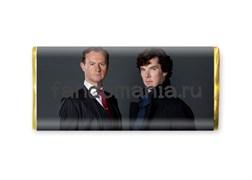 """Шоколадная плитка """"Шерлок и Майкрофт"""" (Шерлок BBC)"""