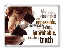 """Обложка на студенческий билет """"Impossible"""" (Шерлок)"""