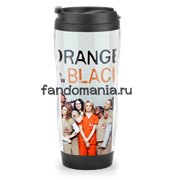 "Термостакан ""Orange is the new black"" (Оранжевый - хит сезона)"