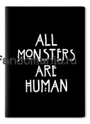 """Обложка на паспорт виниловая """"All monsters are human"""" (Американская история ужасов)"""